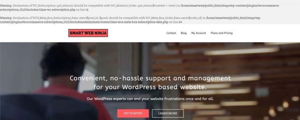 WordPress Website Errors