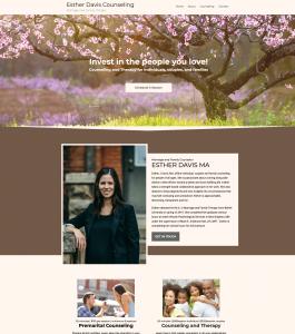 Esther Davis Counseling website built by Smart Web Ninja